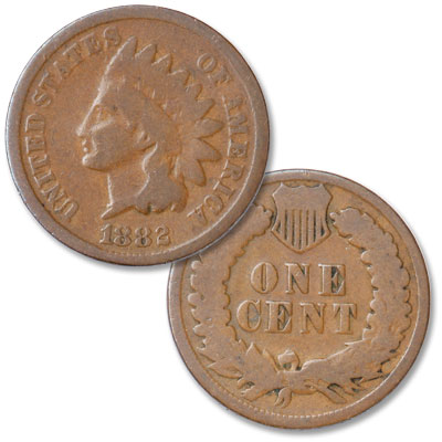 Image for 1882 Indian Head Cent, Variety 3, Bronze from Littleton Coin Company