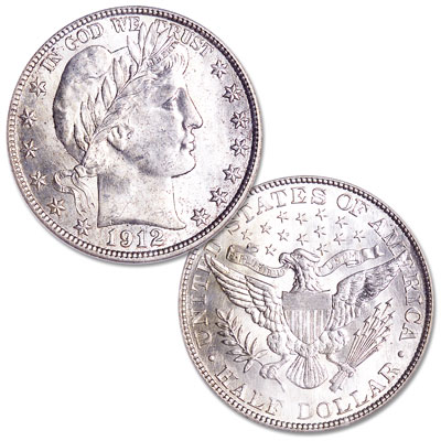 Image for 1912 Barber Silver Half Dollar from Littleton Coin Company