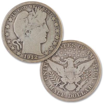 Image for 1912-S Barber Silver Half Dollar from Littleton Coin Company