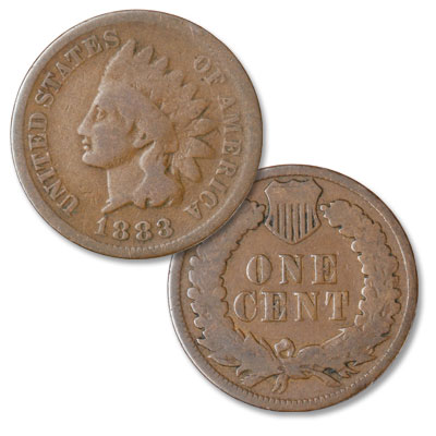 Image for 1883 Indian Head Cent, Variety 3, Bronze from Littleton Coin Company
