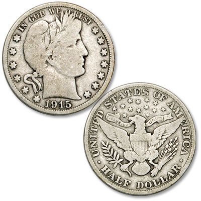 Image for 1915 Barber Silver Half Dollar from Littleton Coin Company