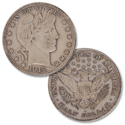 Image for 1915-D Barber Silver Half Dollar from Littleton Coin Company
