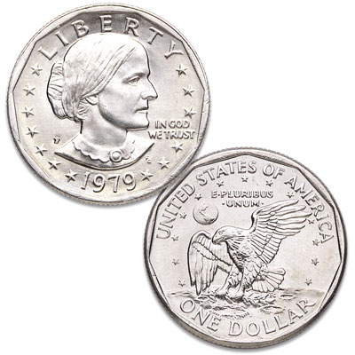 Image for 1979-P Susan B. Anthony Dollar, Narrow Rim (Far Date) from Littleton Coin Company
