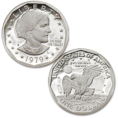 Image for 1979-S Susan B. Anthony Dollar, Filled S, Proof from Littleton Coin Company