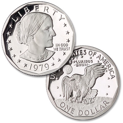Image for 1979-S Susan B. Anthony Dollar, Clear S from Littleton Coin Company