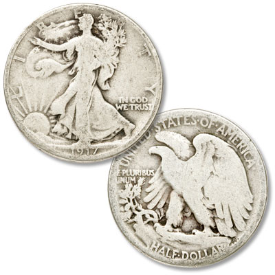 Image for 1917 Liberty Walking Silver Half Dollar from Littleton Coin Company