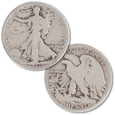 Image for 1917-S Liberty Walking Silver Half Dollar, Reverse from Littleton Coin Company