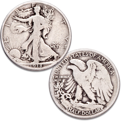 Image for 1918-S Liberty Walking Half Dollar from Littleton Coin Company