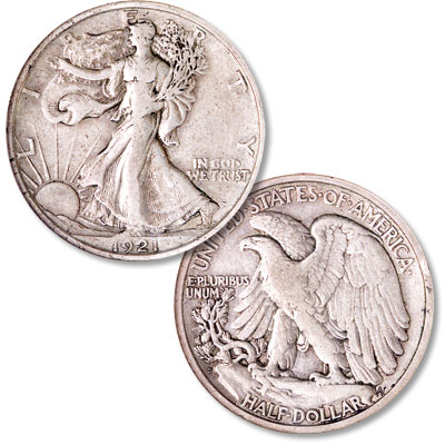 Image for 1921-S Liberty Walking Silver Half Dollar from Littleton Coin Company