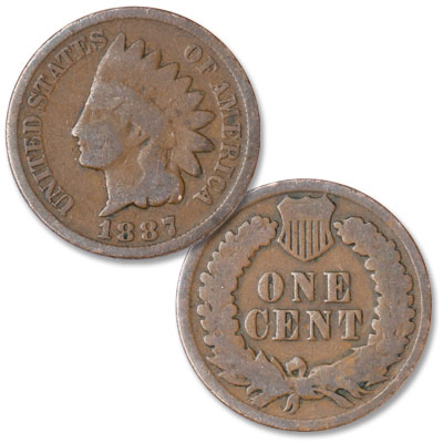 Image for 1887 Indian Head Cent, Variety 3, Bronze from Littleton Coin Company