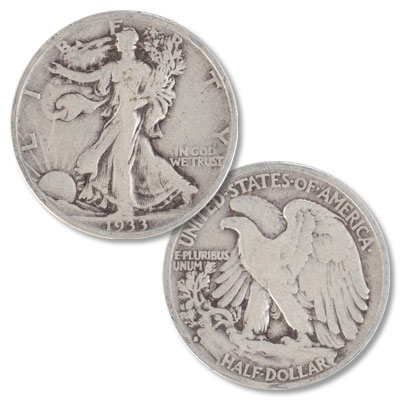 Image for 1933-S Liberty Walking Half Dollar from Littleton Coin Company