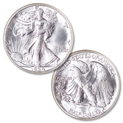 Image for 1934-S Liberty Walking Silver Half Dollar from Littleton Coin Company