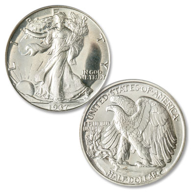 Image for 1937 Liberty Walking Half Dollar from Littleton Coin Company
