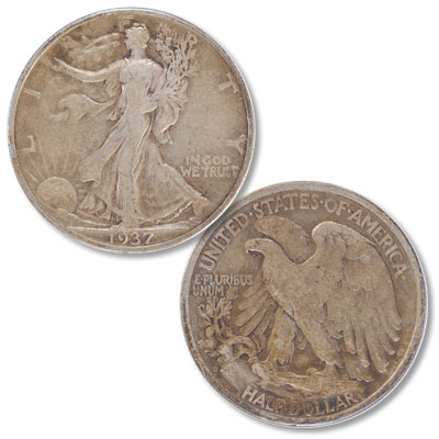 Image for 1937-S Liberty Walking Silver Half Dollar from Littleton Coin Company