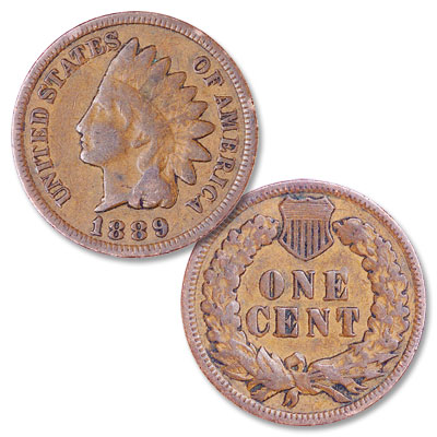 Image for 1889 Indian Head Cent, Variety 3, Bronze from Littleton Coin Company