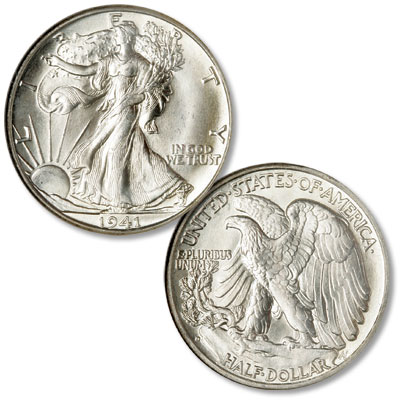 Image for 1941-D Liberty Walking Silver Half Dollar from Littleton Coin Company