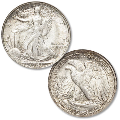 Image for 1941-S Liberty Walking Silver Half Dollar from Littleton Coin Company