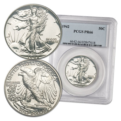 Image for 1942 Liberty Walking Half Dollar Proof from Littleton Coin Company