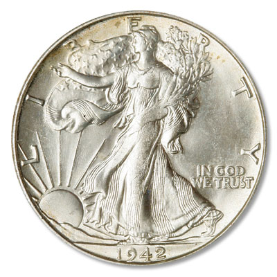 Image for 1942-S Liberty Walking Half Dollar from Littleton Coin Company