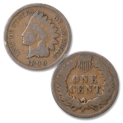 Image for 1890 Indian Head Cent, Variety 3, Bronze from Littleton Coin Company