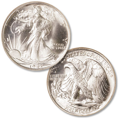 Image for 1943 Liberty Walking Silver Half Dollar from Littleton Coin Company