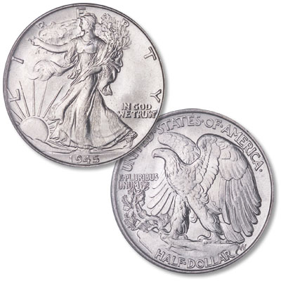 Image for 1945 Liberty Walking Half Dollar from Littleton Coin Company