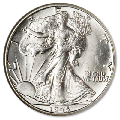 Image for 1945-D Liberty Walking Silver Half Dollar from Littleton Coin Company