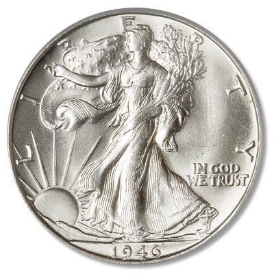 Image for 1946-S Liberty Walking Half Dollar from Littleton Coin Company