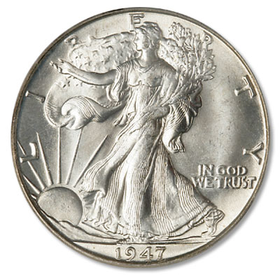 Image for 1947-D Liberty Walking Silver Half Dollar from Littleton Coin Company
