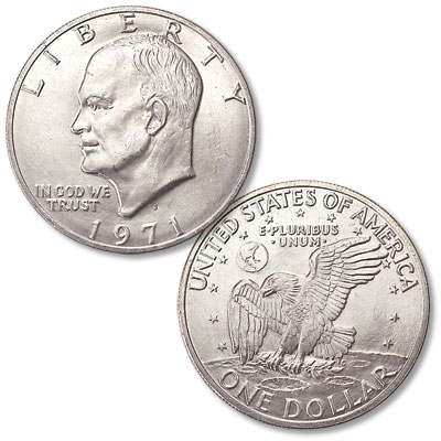 Image for 1971-S Eisenhower Dollar, Silver Clad from Littleton Coin Company