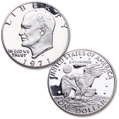Image for 1971-S Eisenhower Silver Clad Dollar, Choice Proof, PR63 from Littleton Coin Company