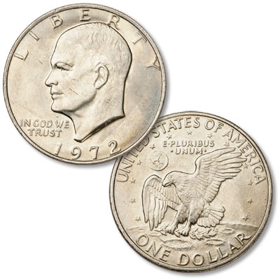 Image for 1972 Eisenhower Dollar, Copper-Nickel Clad from Littleton Coin Company