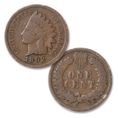 Image for 1892 Indian Head Cent, Variety 3, Bronze from Littleton Coin Company