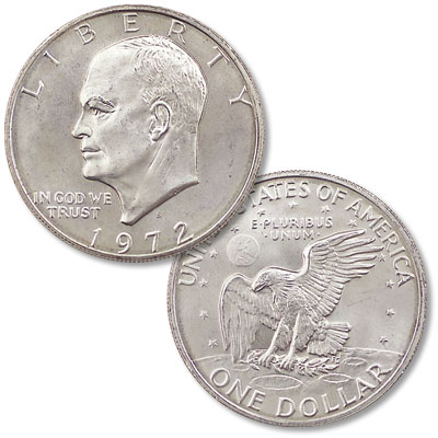 Image for 1972-S Eisenhower Dollar, Silver Clad from Littleton Coin Company