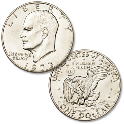 Image for 1973 Eisenhower Dollar, Copper-Nickel Clad from Littleton Coin Company