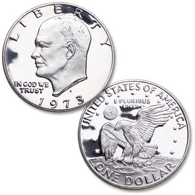 Image for 1973-S Eisenhower Dollar, Silver Clad Proof from Littleton Coin Company