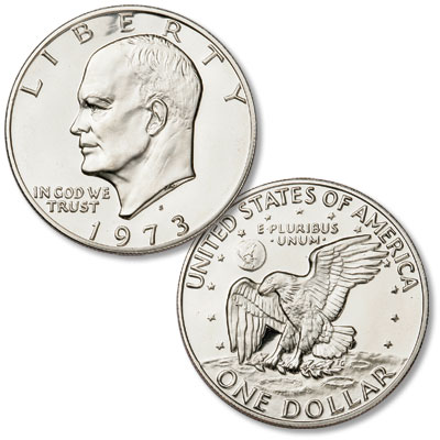 Image for 1973-S Copper-Nickel Clad Eisenhower Dollar, Choice Proof-63 from Littleton Coin Company