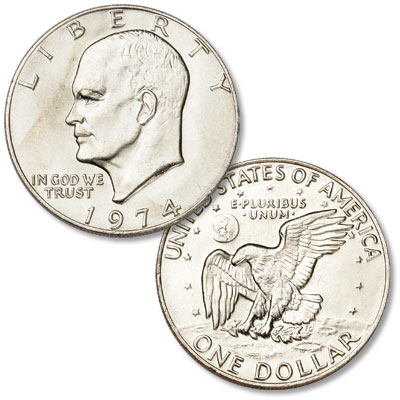 Image for 1974 Eisenhower Dollar, Copper-Nickel Clad from Littleton Coin Company
