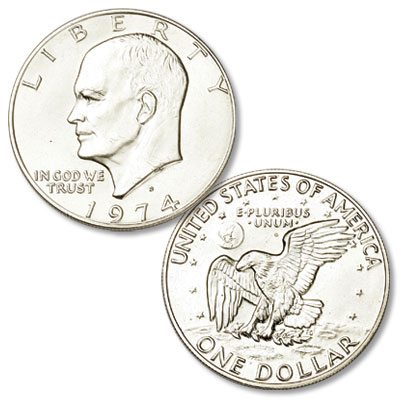 Image for 1974-S Eisenhower Dollar, Silver Clad from Littleton Coin Company