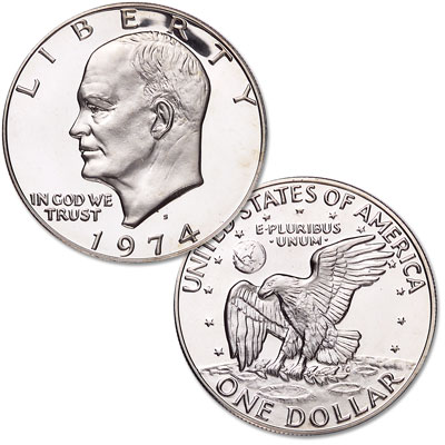 Image for 1974-S Eisenhower Dollar, Silver Clad Proof from Littleton Coin Company