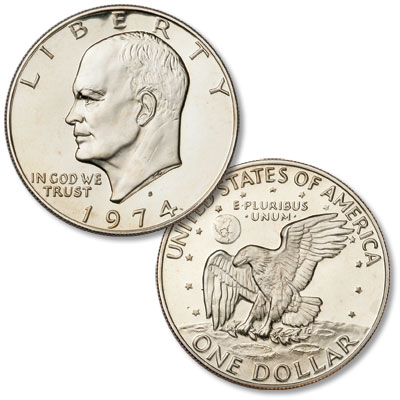 Image for 1974-S Eisenhower Dollar, Copper-Nickel Clad Proof from Littleton Coin Company