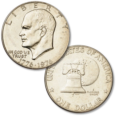 Image for 1976 Eisenhower Dollar, Copper-Nickel Clad, Variety 1 from Littleton Coin Company