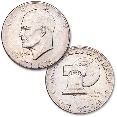 Image for 1976 Eisenhower Dollar, Copper-Nickel Clad, Variety 2 from Littleton Coin Company