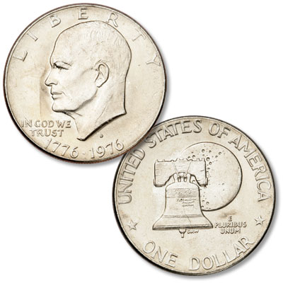 Image for 1976-D Eisenhower Dollar, Copper-Nickel Clad, Variety 2 from Littleton Coin Company