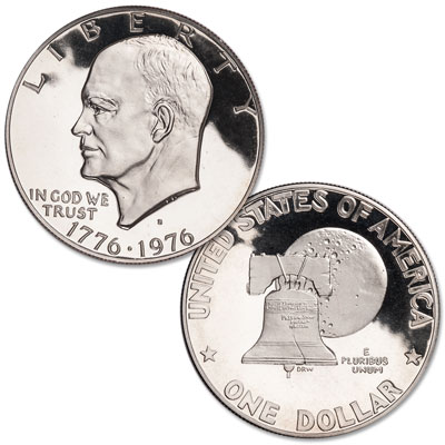 Image for 1976-S Eisenhower Dollar, Copper-Nickel Clad Proof, Variety 1 from Littleton Coin Company