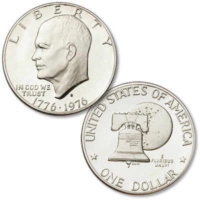 Image for 1976-S Eisenhower Dollar, Copper-Nickel Clad Proof, Variety 2 from Littleton Coin Company