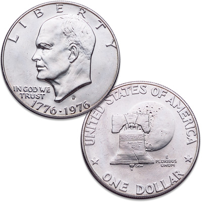 Image for 1976-S Eisenhower Dollar, Silver Clad, Bicentennial, Variety 1 from Littleton Coin Company