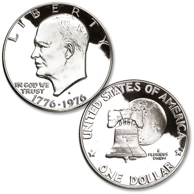 Image for 1976-S Eisenhower Dollar, Silver Clad, Bicentennial, Variety 1, Proof from Littleton Coin Company
