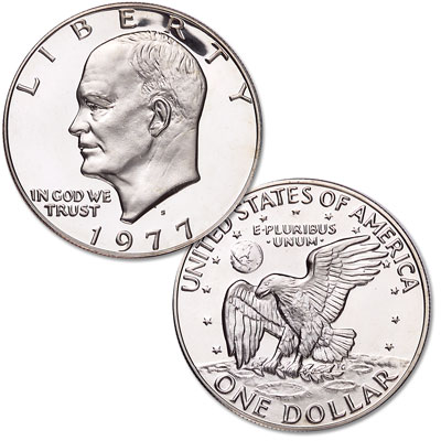 Image for 1977-S Eisenhower Dollar, Copper-Nickel Clad, Proof from Littleton Coin Company
