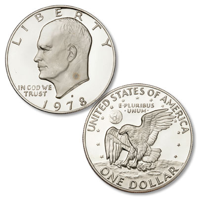 Image for 1978-S Eisenhower Dollar, Copper-Nickel Clad Proof from Littleton Coin Company